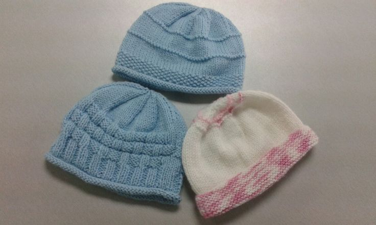 Three baby beanies for Little Sprouts