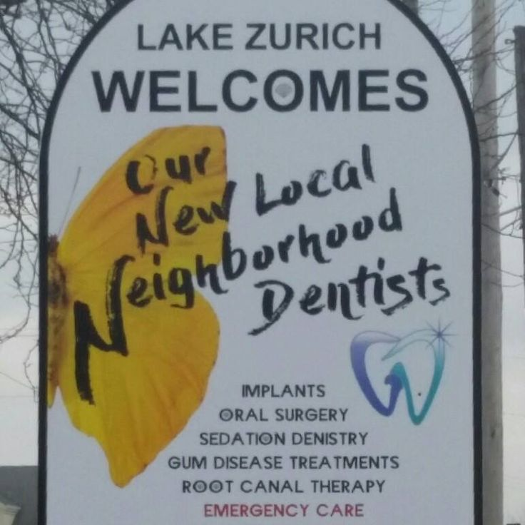 Our new Grand Dental - Lake Zurich street sign!