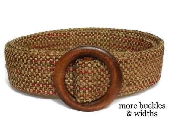 Brown Woven Belt / Women's Belt / Tweed Belt Fabric Belt / Ladies Belt / Wide Belt / XS to Plus Size Belt / Trench Coat Belt- Indian Corn 3