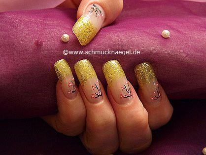 Decoración de uñas con nail art liner - Nail Art Motivo 140 http://www.schmucknaegel.de/