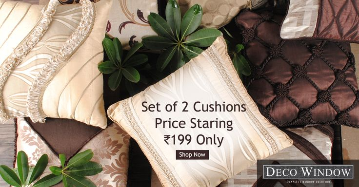 #Diwali_Sale Buy #Designer #Filled_Cushions and Set of 2 #Cushions @99 http://www.decowindow.in/cushions-9/filled-cushions.html   Follow Us for More... www.pinterest.com/decowindow/ #DecoWindow #Curtains #Cushions #Curtain_Rod #Diwali_Sale