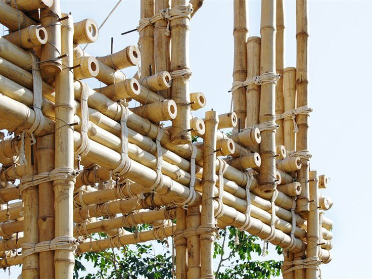 Locally Manufactured Cob And Bamboo School Building Jar