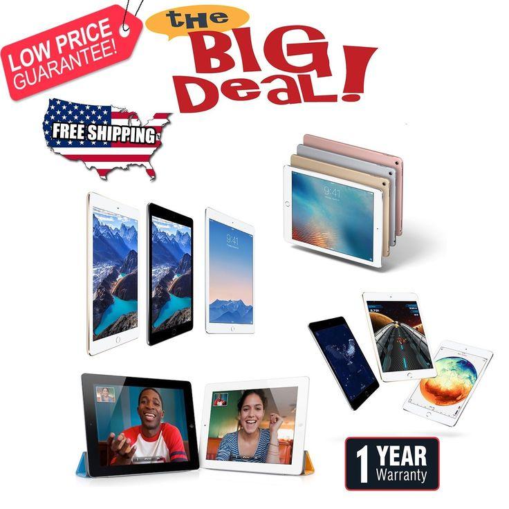 Apple iPad Pro 9.7 Air-mini-1/2/3/4 Wi-Fi4G|1 Year Warranty Memorial Day Sale!