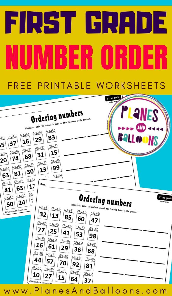 Ordering Numbers Worksheets 1st Grade Pdf Planes Balloons Let S Make Learning Fun First Grade Math Worksheets Math Practice Worksheets Number Worksheets [ 1200 x 700 Pixel ]