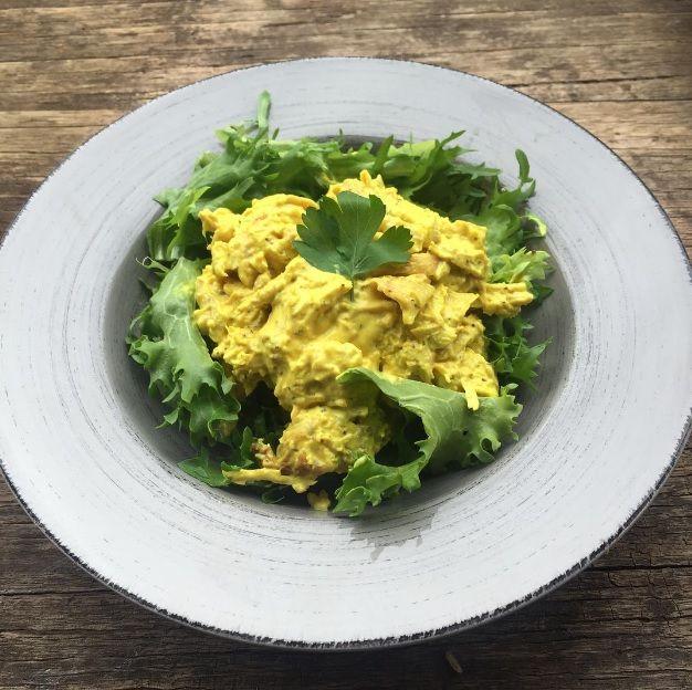 Tumeric, Lemon + Pepper Chicken Salad w/ hints of Lemongrass & Chilli