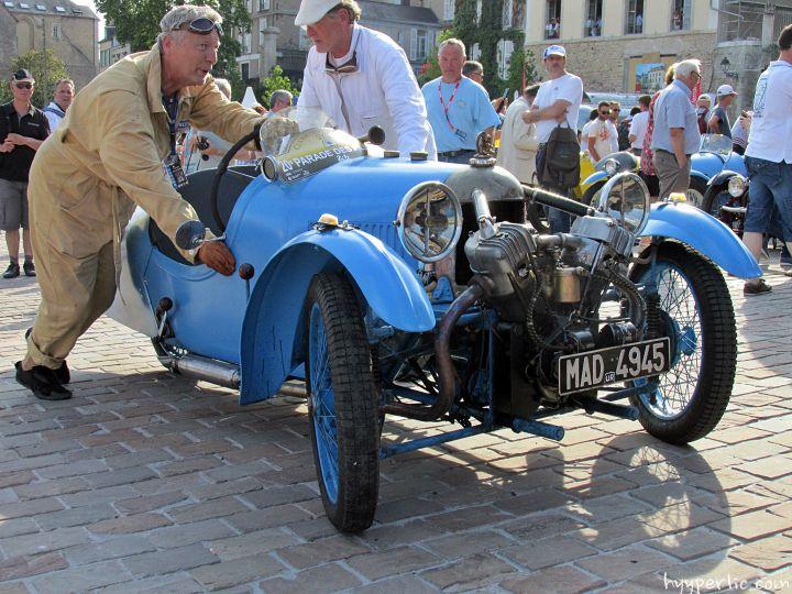 Morgan Threewheeler Le Mans Fahrer Parade 2014