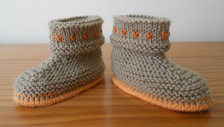 TUTO - Bottes de bébé, peut servir de base pour faire toutes sorte de bottes de bébé, y inclus le modèle d'Aigle