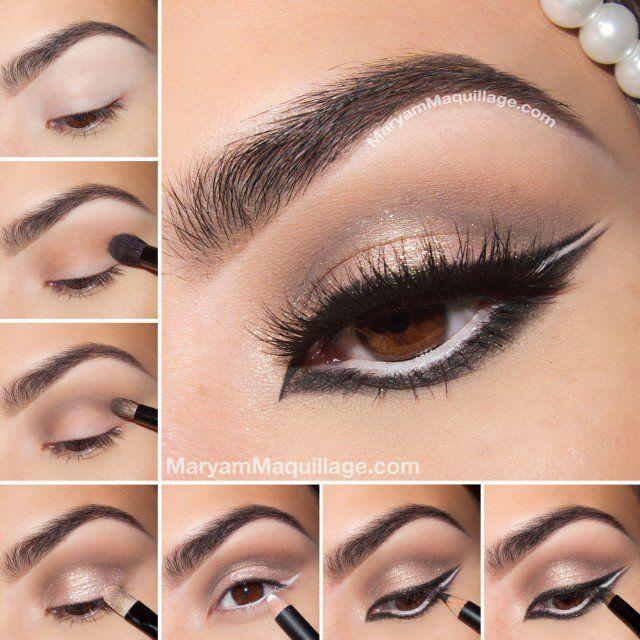 Urocze Eye Makeup Tutorial z pełnym eye liners