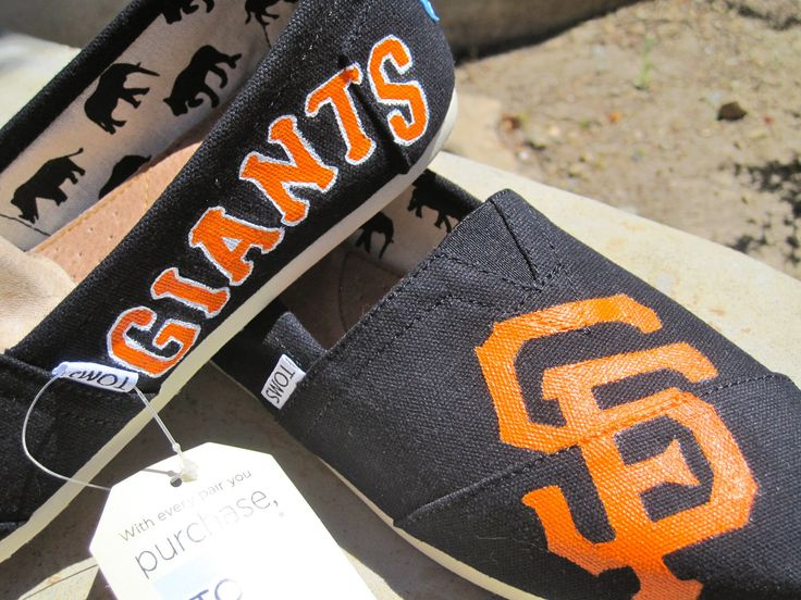San Francisco Giants Inspired Toms. $95.00, via Etsy.
