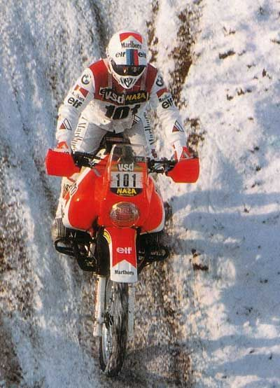 Gaston Rahier - Prologue Paris Dakar 1986.