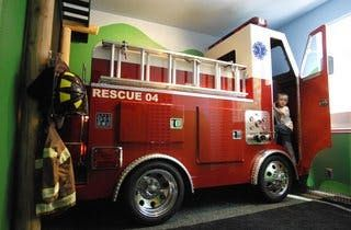 An article last month in the Sac Bee featured a father who built a realistic replica of a firetruck as a bed/storage unit combo for his son