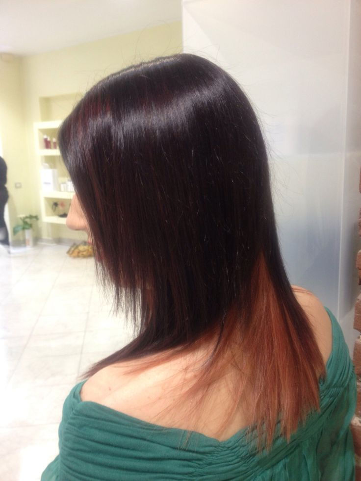One of our work. Intensive red with tips and degradè