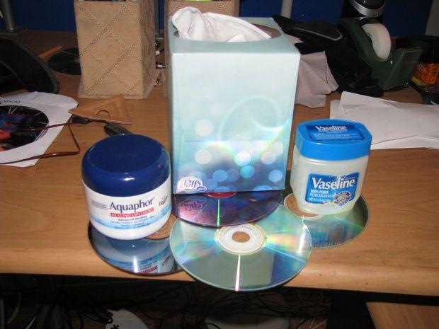 CD or DVD repair scratch