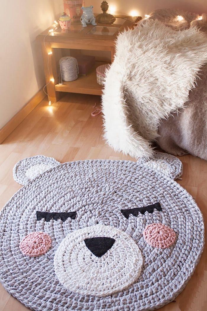 1001 Projets Creatifs Pour Fabriquer Un Tapis Merveilleux Modeles De Tapis En Crochet Tapis Au Crochet Tapis En Crochet