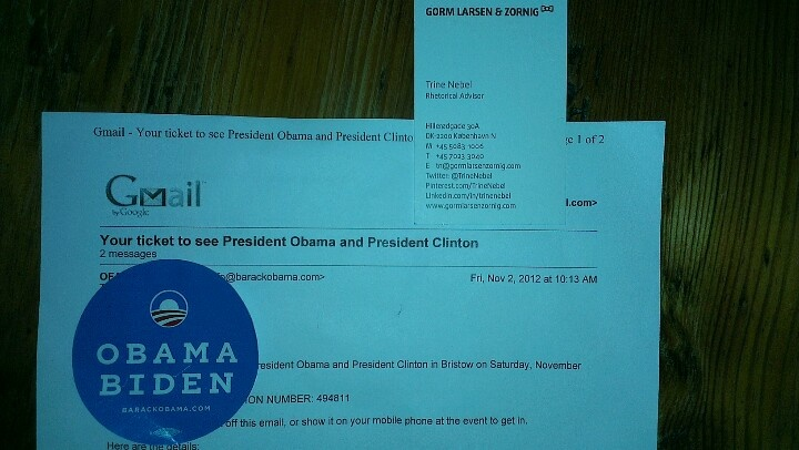 Going to meet not only one, but two presidents - Obama AND Clinton! Awesome :)