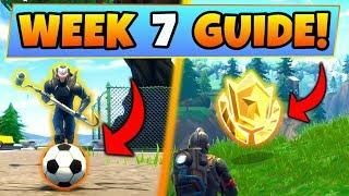 fortnite week 7 challenges guide soccer pitch locations treasure map battle royale seeason 4 - soccer pitch locations fortnite
