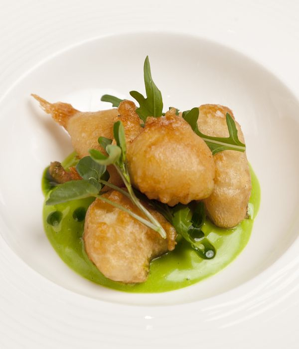 Monkfish scampi in beer batter with wild garlic mayonnaise for Monk fish recipes