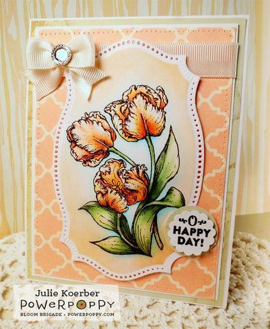 Dynamic Duos: Peonies and Tulips Stamp Set | Power Poppy by Marcella Hawley