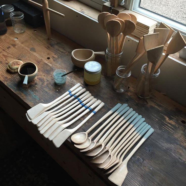 Spoons and spatulas by Michigan Sloyd #slöjd #spooncarving #woodenspoon
