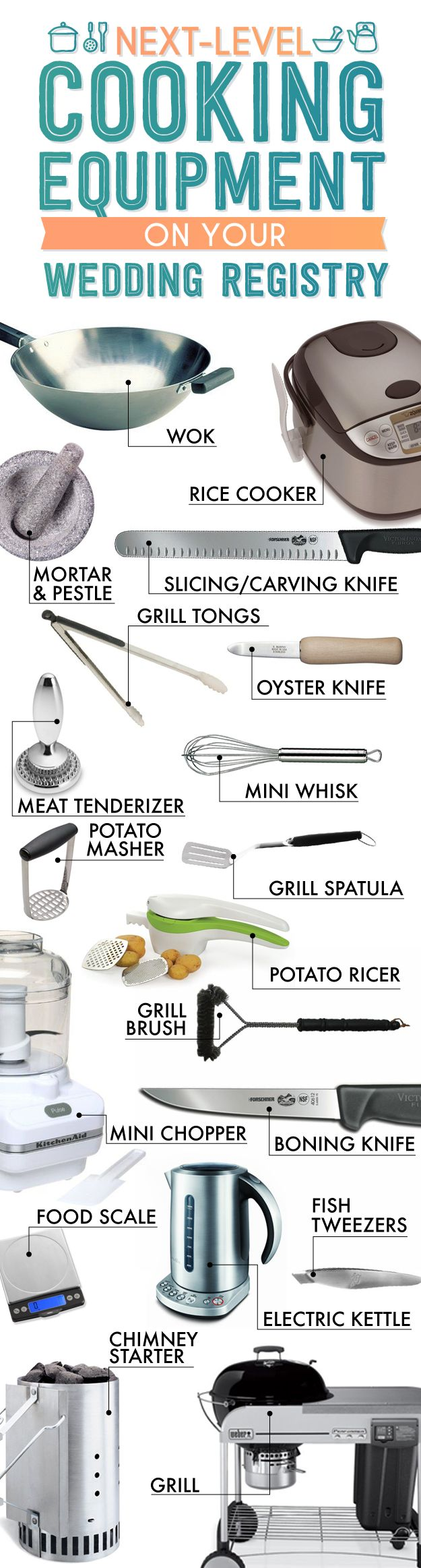 Kitchen equipment and their uses - The Essential Wedding Registry List For Your Kitchen