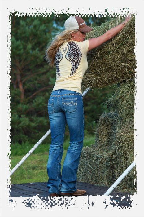 ..: Huge Angel, Angel Wings, Country Girl, Cowgirl Tuff, Cute Outfits, Cowgirl Outfits, Angels, Wings Shirts, Boots