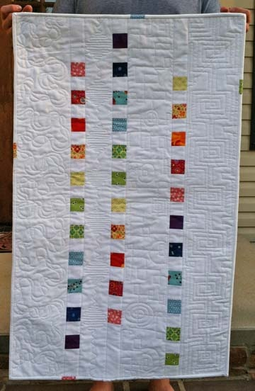 """""""Remember Your Karma""""'s photo of a quilt she recently made. I love this-modern yet room for some awesome quilting.: Karma Photo"""