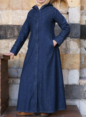 Hiba Denim Maxi Dress