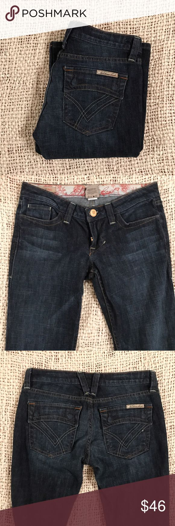 "William Rast jeans ""Belle Flare"" 27x33 Beautiful pair of William Rast jeans size 27x33. Great used condition. Dark wash, low rise, with no wear to heels. Message me for additional measurements. William Rast Jeans Flare & Wide Leg"