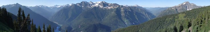 View from Sourdough Mountain Overlook  A view looking down onto Diablo Lake. backpacking trips in stehekin