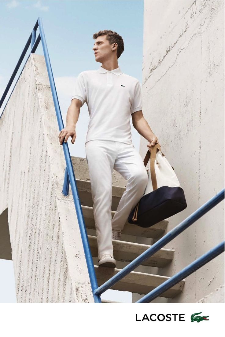 Lacoste Delivers Fitted Classics for Spring Ads