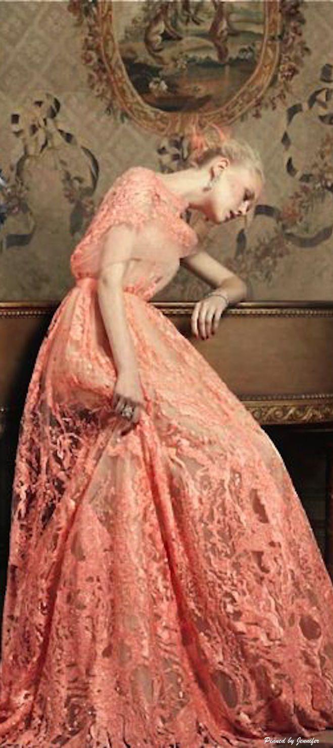 275 best peach blush cream and beige images on pinterest for Elie saab blush wedding dress