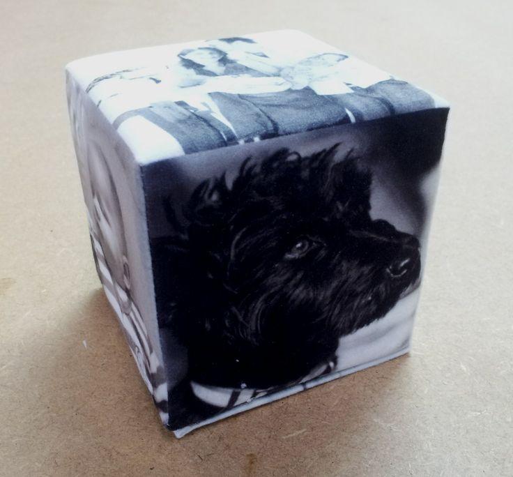Foto cubo, in ogni lato una foto diversa del proprio animale cagnolino