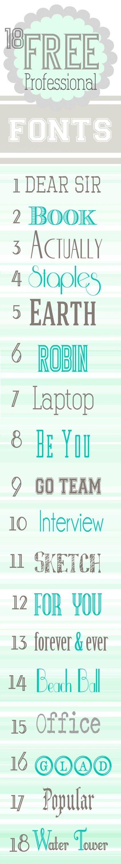 18 Free Professional Fonts