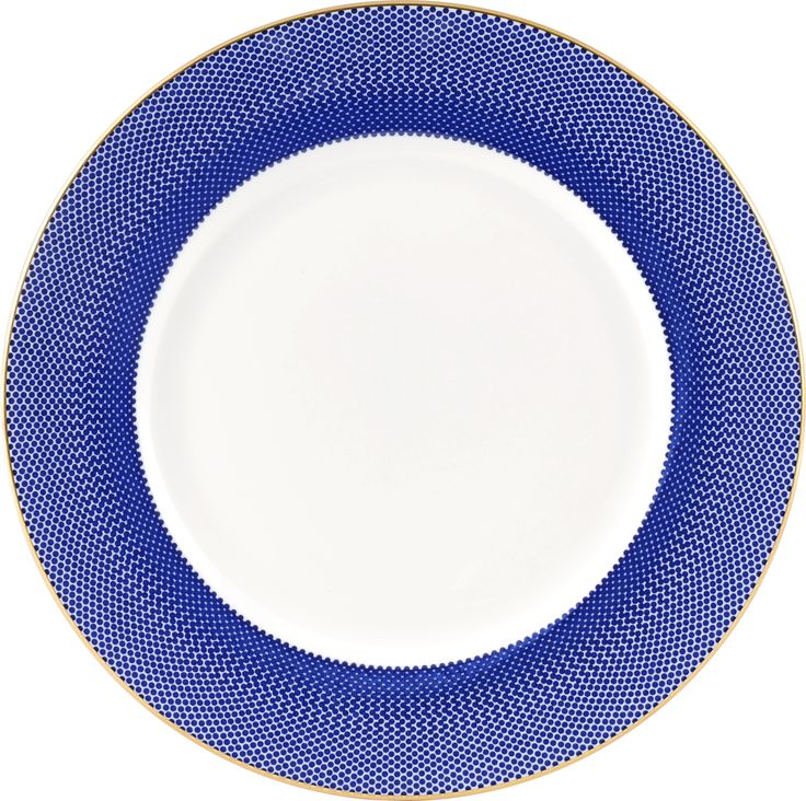 """8"""" 'Benday Cobalt' Breakfast Plate. Complimented with 22kt Gold rims and accents, this stylish collection brings together simplicity and elegance. Hand made in Stoke-on-Trent, England, this collection is inspired by Benjamin Day: 'our homage to the dot'. 8"""" Plate can be used for snacks, dinner or dessert. Handwash Only, Fine Bone China. Find out more here: https://thenewenglish.co.uk/collections/benday-cobalt #TheNewEnglish #Benday #Cobalt"""