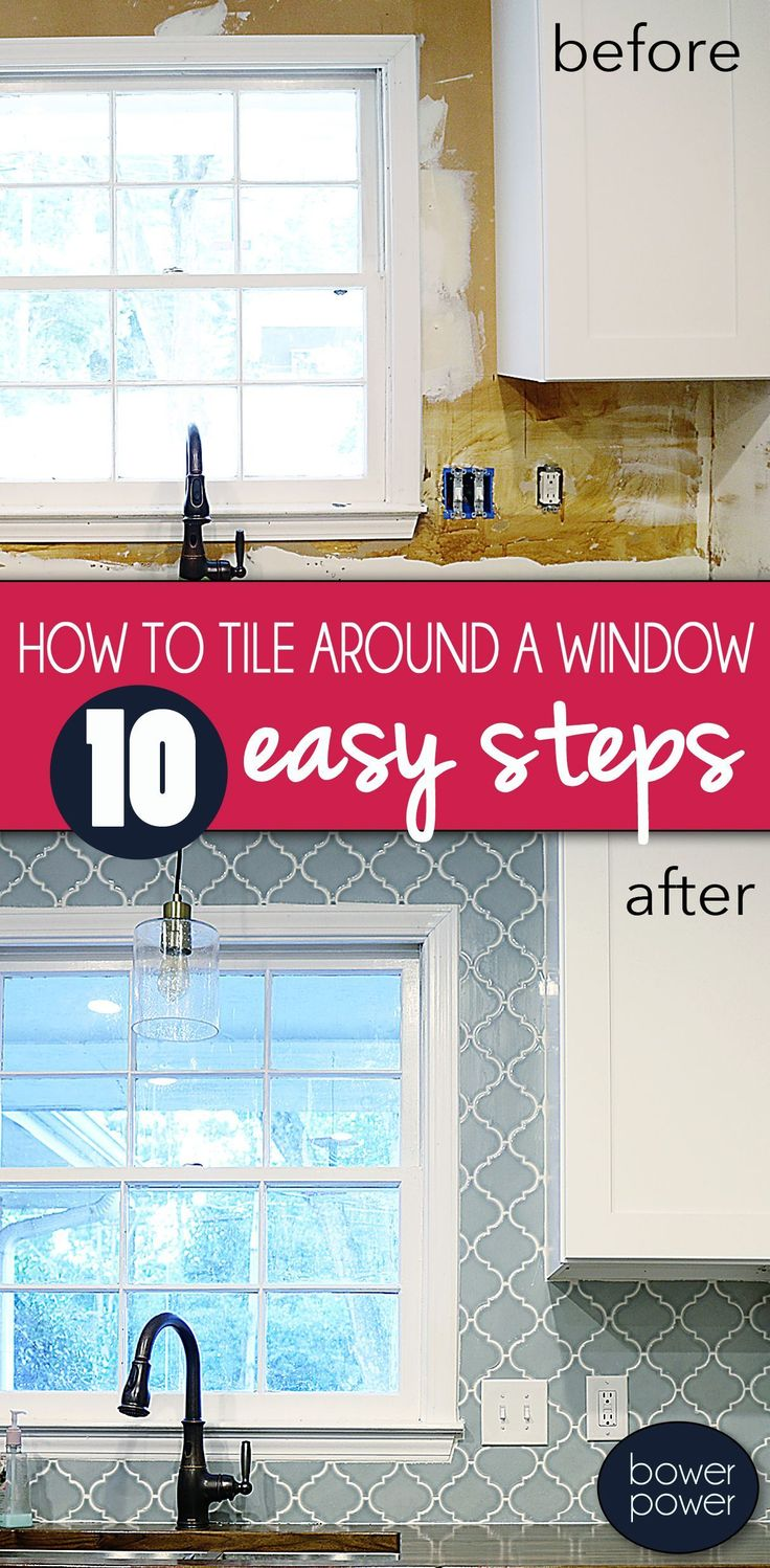 this article is about how to tile around a window and the process of shopping for - Schwarzweimosaikfliese Backsplash
