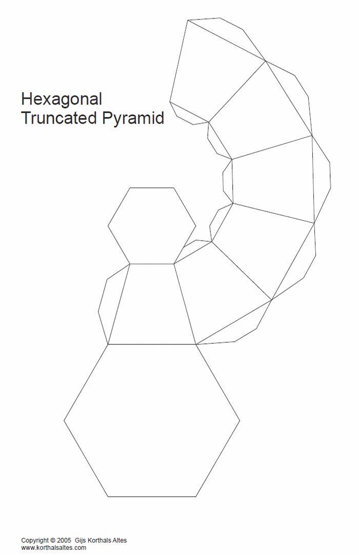 pirámide hexagonal truncado