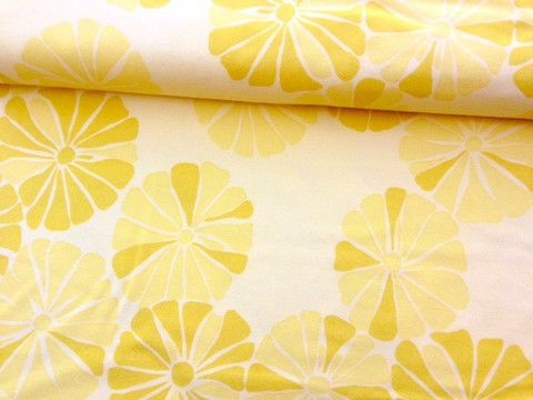 Della Flowers flannel fabric in Lemon by Valori Wells $2.50 #fabric #flannel