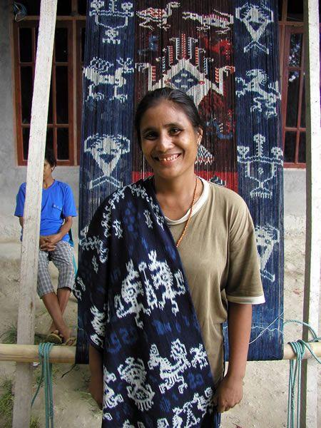 A weaver in Lambanapu, Sumba
