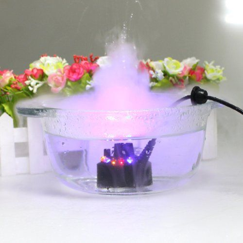 AGPtek® Color Changing 12 LED Mist Maker Fogger Water Fountain Pond Fog Atomizer Air Humidifier with USB Adapter AGPtEK