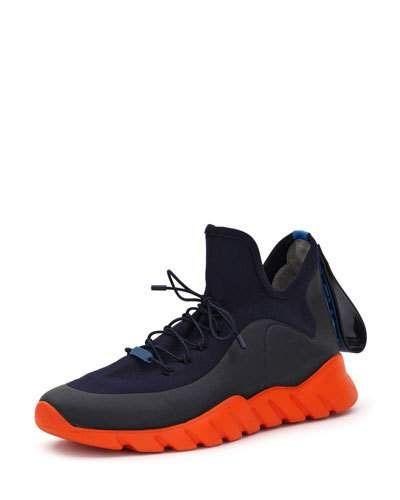 3316200e1f Fendi Men's Runway High-Top Scuba Sneakers   Products   Sneakers ...