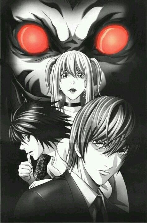 Light Yagami | Kira, L Lawliet, Misa Amane, and Ryuk       _Death Note
