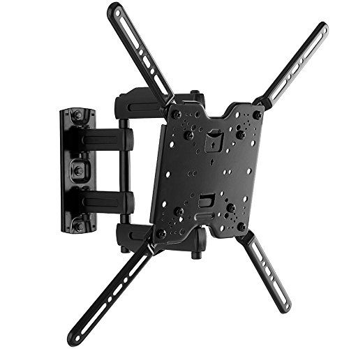 "Sanus Full-Motion TV Wall Mount for 32"" to 80"" TVs Extends 14.6"" & Single Stud Install - Bracket fits most LED, LCD, OLED, and Plasma Flat Screen TVs w/ VESA Patterns up to 600 x 400 - OLF15-B1 …  The Single Stud, Full-Motion design allows you to mount your large TV anywhere in the room with ultimate flexibility, by only mounting into one stud.  The sleek design allows you to push the TV back to just 3"" from the wall, and extend it out 14"" to swivel your TV for the perfect view.  Featu..."