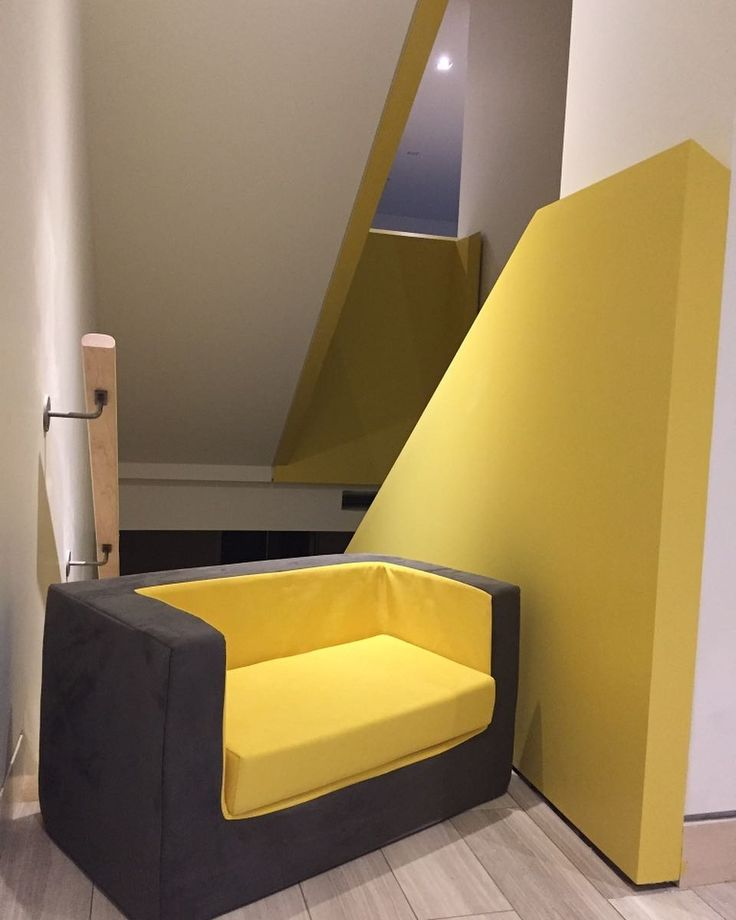 """Monte Design (@montedesign) on Instagram: """"Hello yellow! A perfect match with our Cubino Loveseat. #montedesign #cubinoloveseat #kidschair…"""""""