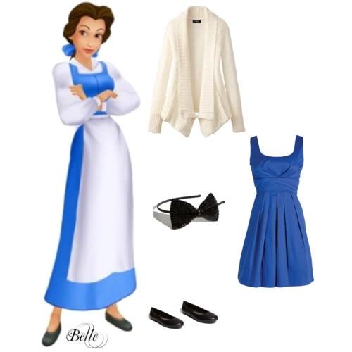 I love love love the Disney Princess inspired looks! Belle was always my fav! <3