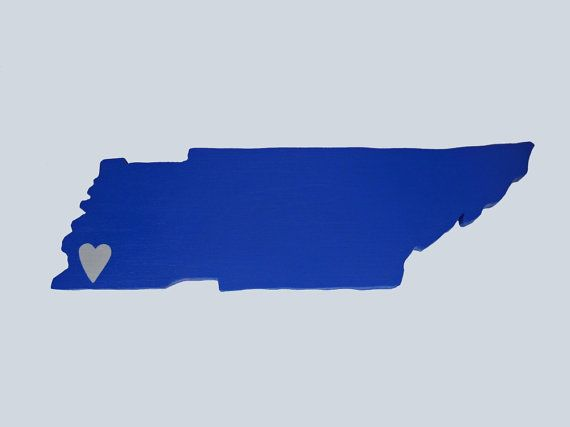 Memphis Tigers State Heart wall art handcrafted by StateYourTeam