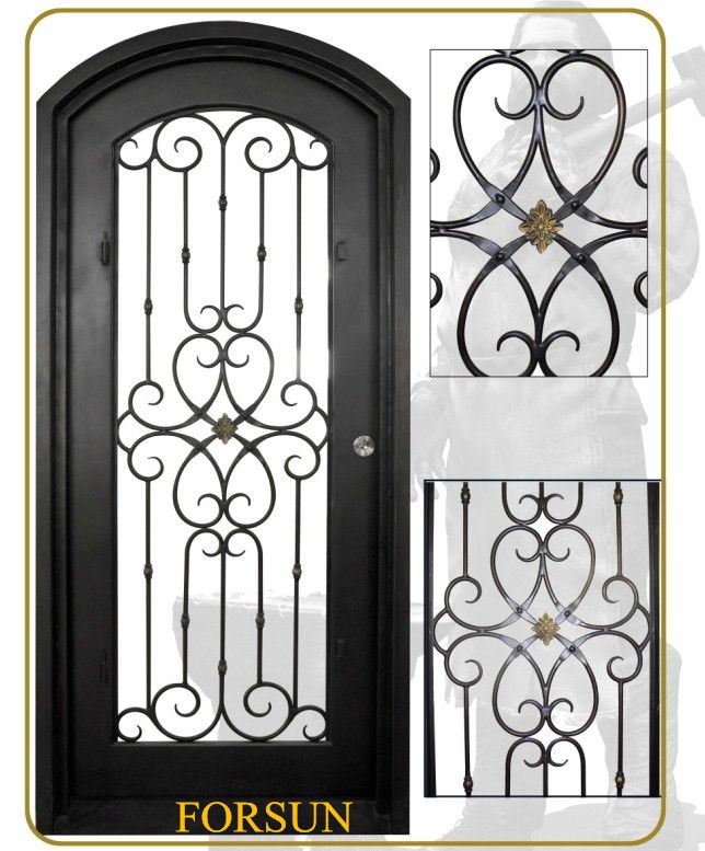 64 best hierro forjado images on pinterest wrought iron for Modelos de puertas de hierro