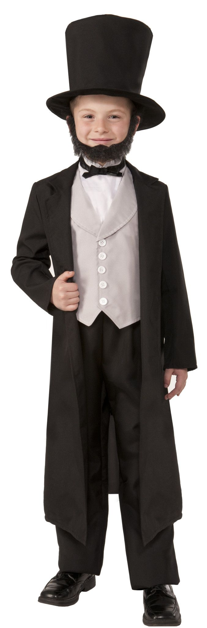 Honest Abe Lincoln was a real live hero who stopped a war and brought the country back together. When your little boy (or girl!) puts on the Abraham Lincoln Child Costume, you will be showing the worl