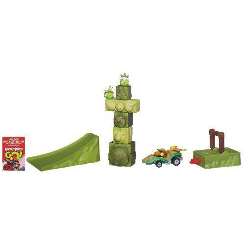Angry Birds Go! Jenga Tower Knockdown…