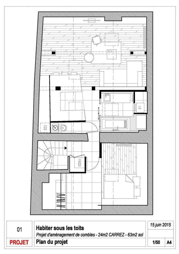 Parisian Attic Apartment Blends Rustic With Contemporary - http://freshome.com/attic-apartment-Paris/