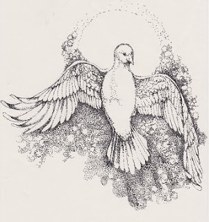 pen and ink sketch used for a church service bulletin